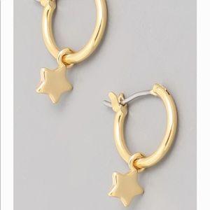 Mini Gold Star Hoop Earrings